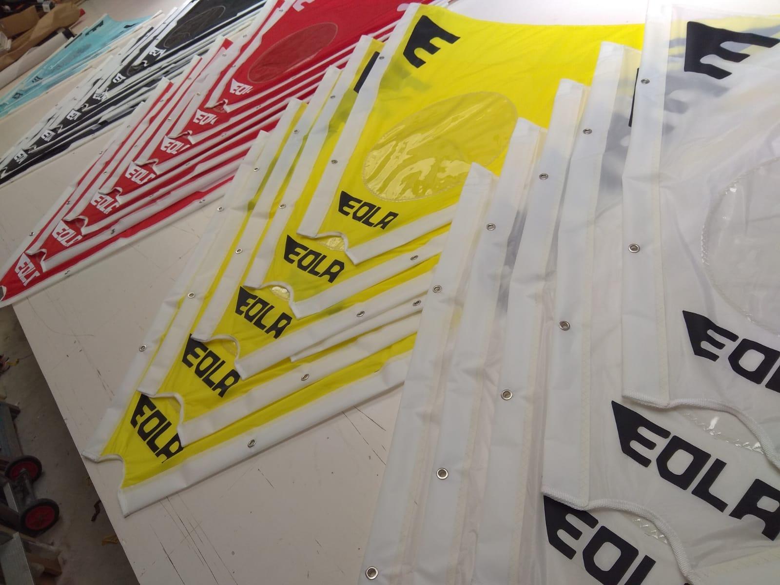 Velas de colores EOLA en nuestra velería náutica
